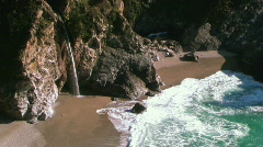 Beach and Waterfall - stock footage