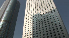 Hong Kong Skyscrapers 3 (pan) Stock Footage