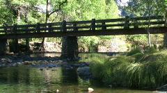 Bridge Over River - stock footage