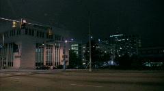City at Night Stock Footage