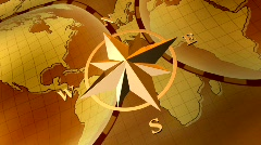 Compass rose Stock Footage