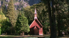 Church in Forest - stock footage