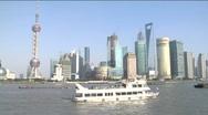 Skyline of Shanghai's economic hub Stock Footage