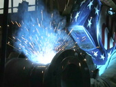 Stock Video Footage of Man Welding in Factory 2