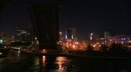 Miami beach at night. Stock Footage