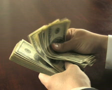 Counting Hundreds Stock Footage