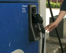 Filling Car With Gas 1 Stock Footage