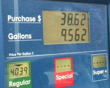Gas Price Climbing 2 Stock Footage