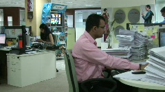 Mumbai Office Workers 1  Stock Footage