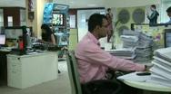 Mumbai Office Workers 1  Stock Footage