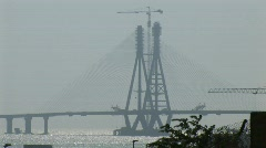 Indian Bridge Construction Stock Footage