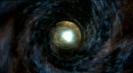 Vortex abstract space tunnel Stock Footage