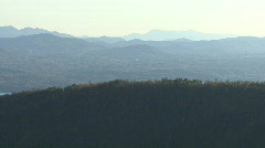 Hazy Distant Mountians 02 Stock Footage