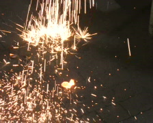 Sparks Falling 2 - stock footage