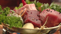 Meat and sausage Stock Footage