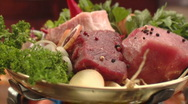 Stock Video Footage of meat and sausage