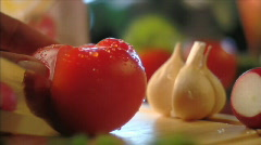 Vegetables in moving (sequence) 002 Stock Footage