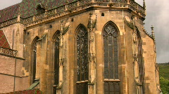 Church in Thann - France Stock Footage