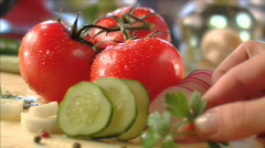 Vegetables in moving (sequence) 003 - stock footage