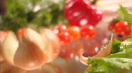 Stock Video Footage of Vegetables in moving (sequence) 006
