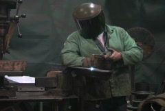 Man Using Blowtorch 2 Stock Footage