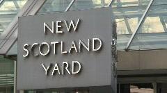 New Scotland Yard Stock Footage