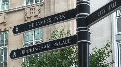 Buckingham Palace Sign - stock footage