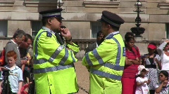 London Metropolitan Police talking Stock Footage