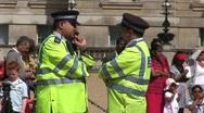London Metropolitan Police talking Stock Footage