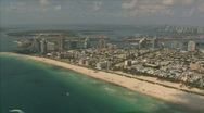 Miami beach and surroundings Stock Footage