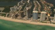 Miami beach and surroundings Stock Footage