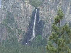 Yosemite Bridal Veil Falls - stock footage