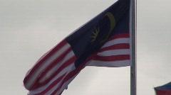 Malaysian Flag Waving Stock Footage