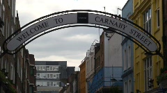 Carnaby Street London with People Stock Footage