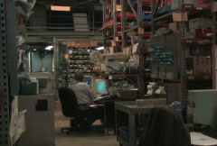 Warehouse Office Stock Footage