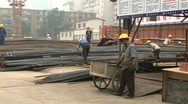 Stock Video Footage of Construction workers in Beijing. Migrant workers in beijing china.