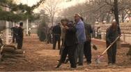 Stock Video Footage of Construction workers in Beijing. Migrant workers in beijing china.