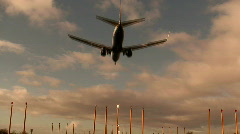 Passenger jet landing2  Stock Footage