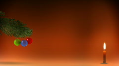 Christmas tree with candle Stock Footage