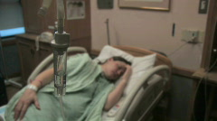 Hospital Patient with IV 3 - stock footage