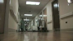 Patient in Hospital Hallway Stock Footage