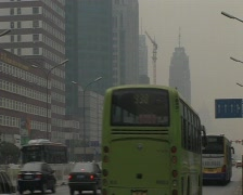 traffic polluted beijing pekin - stock footage