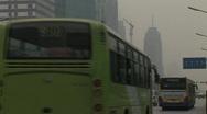 Stock Video Footage of traffic polluted beijing pekin