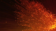 Bright orange glitters Stock Footage