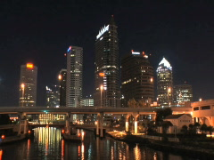 Downtown Tampa Riverside Stock Footage