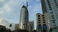 Skyscraper Pan Stock Footage