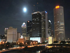 Tampa by Moonlight - stock footage