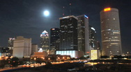 Tampa by Moonlight Stock Footage