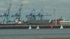 Dockland cranes2 Stock Footage