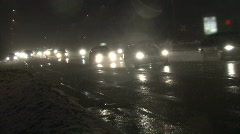 Traffic in Blizzard, Canted 3 Stock Footage